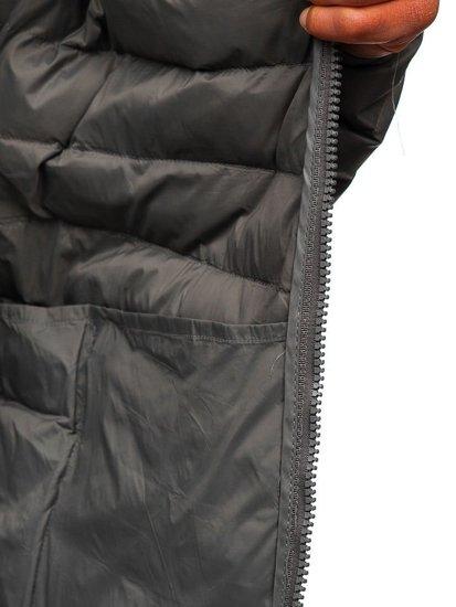 Šedá pánska športová prechodná bunda Bolf SM70