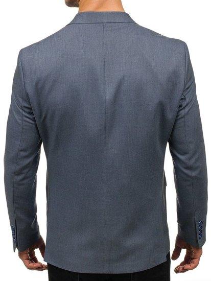 Šedé pánske elegantné sako BOLF 1050