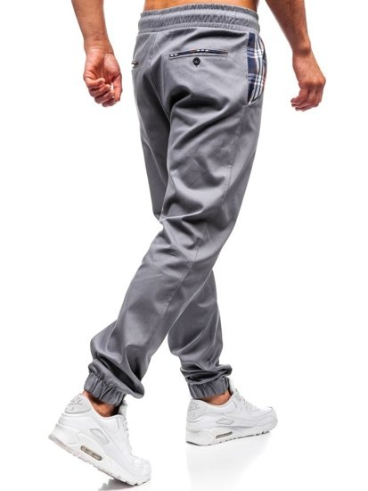 Šedé pánske jogger nohavice BOLF 0449