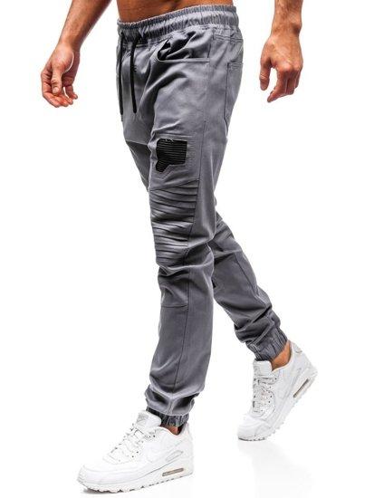Šedé pánske jogger nohavice BOLF 0829