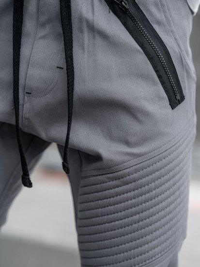 Šedé pánske jogger nohavice BOLF 0952