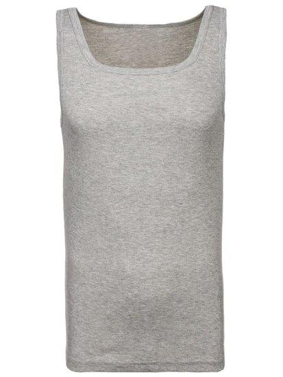 Šedé pánske tričko bez potlače BOLF C10050