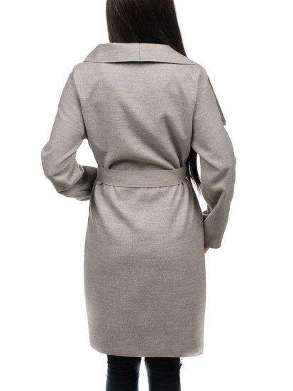 Šedý dámsky kabát Bolf 1729