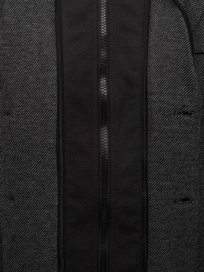 Šedý pánsky kabát Bolf 1978