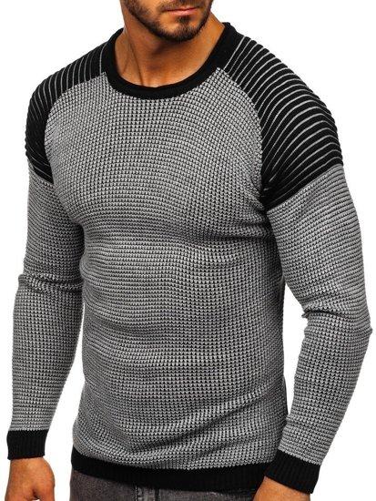 Šedý pánsky sveter Bolf 0004