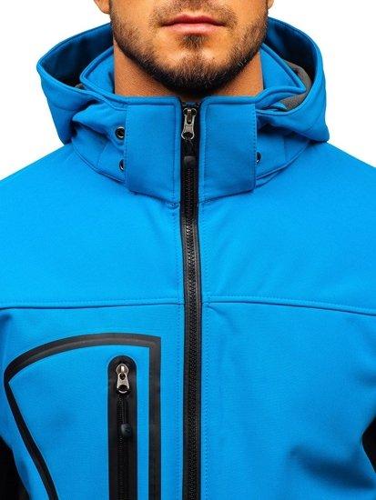 Svetlomodrá pánska softshellová bunda BOLF T019