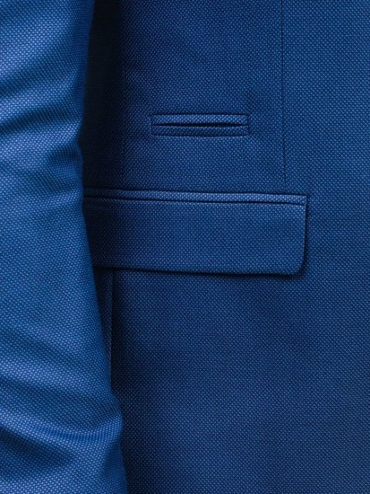 Svetlomodré pánske elegantné sako BOLF 1050
