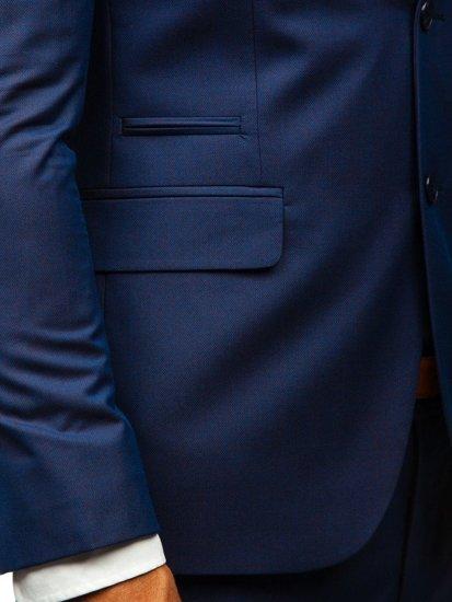 Tmavmodrý pánsky oblek BOLF 19200