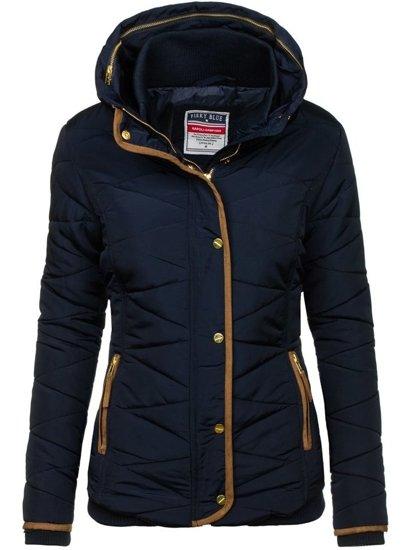 Tmavomodrá dámska zimná bunda BOLF 22