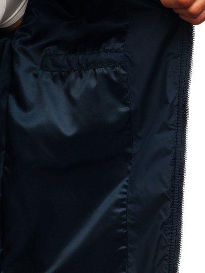 Tmavomodrá pánska prechodná bunda BOLF 8208