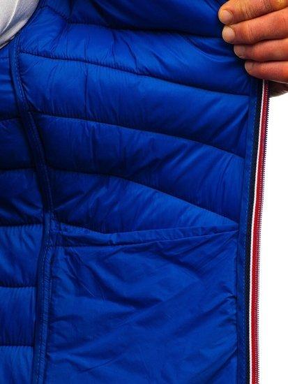 Tmavomodrá pánska športová prechodná bunda BOLF LY1015