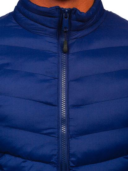 Tmavomodrá pánska športová prechodná bunda Bolf SM70