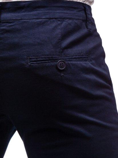 Tmavomodré pánske chinos nohavice BOLF 2901