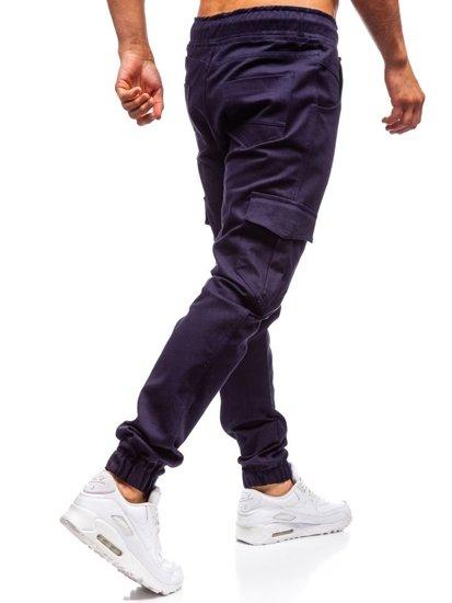 Tmavomodré pánske jogger kapsáče BOLF 0404