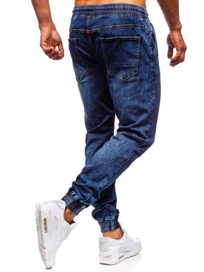 Tmavomodré pánske rifľové joggery Bolf KA675