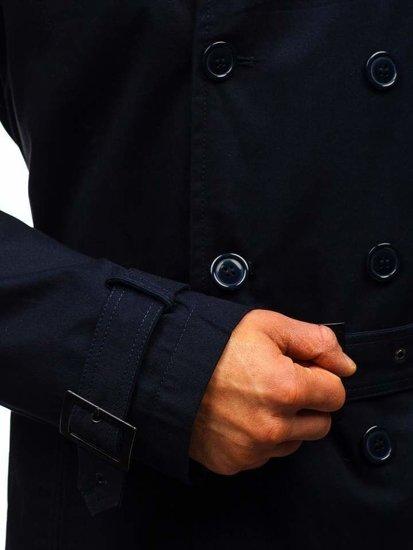 Tmavomodrý pánsky plášť BOLF 5710