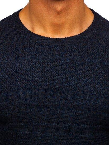 Tmavomodrý pánsky sveter Bolf H1926