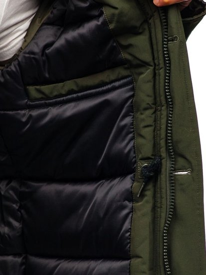 Zelená pánska zimná bunda BOLF 99126