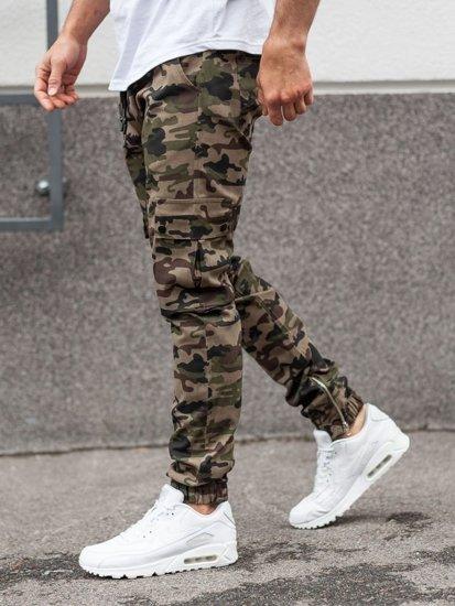 Zelené pánske jogger nohavice BOLF 0858