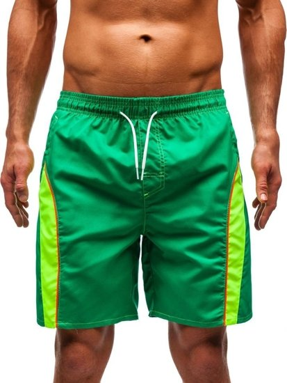 Zelené pánske kúpacie šortky BOLF 336