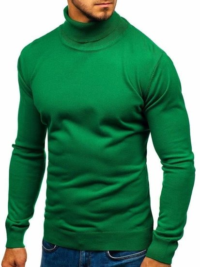 Zelený pánsky sveter / rolák BOLF 2400
