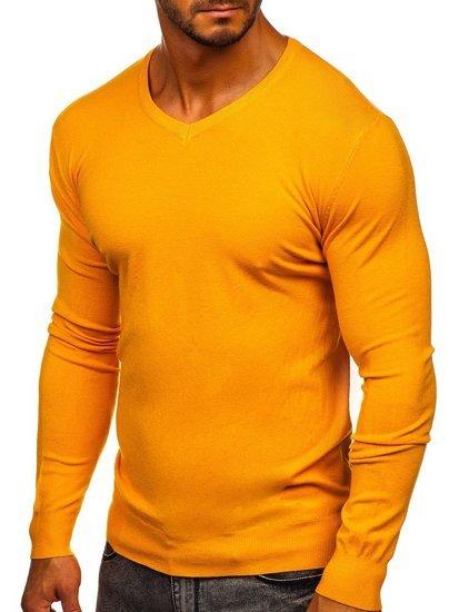 Žltý pánsky sveter s Včkom Bolf YY03