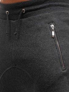 Antracitové pánske baggy tepláky BOLF 43S-S