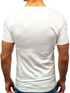Biele pánske tričko s potlačou BOLF 7434