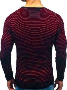 572afe973131 Čierno-červený pánsky sveter BOLF 152