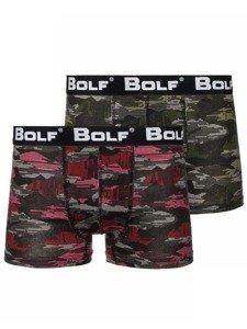 Farebné pánske boxerky BOLF 0953-1P 2 KS