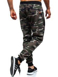 Kahki maskáčové pánske teplákové joggery Bolf TC876