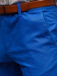 Modré pánske chinos nohavice Bolf 1120