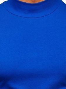 Modrý pánsky rolák so zapínaním bez potlače Bolf 145348