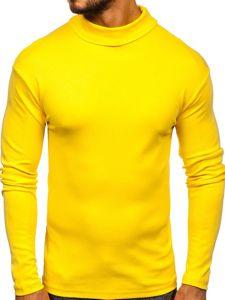 Žltý pánsky rolák bez potlače Bolf 145347